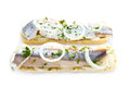 Free Sandwiches With Herring, Onions And Herbs Stock Photography - 30750742