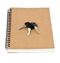 Free Recycled Paper Notebook Front Cover And Car Keys  Isolated Royalty Free Stock Photos - 30750748
