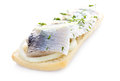 Free Sandwich With Herring, Onions And Herbs Stock Photos - 30750753