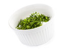 Free Sour Cream In Small Round Plate With Herbs Royalty Free Stock Photo - 30750765