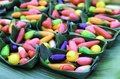 Free Bake Candy Colors On A Banana Leaf Royalty Free Stock Images - 30756279