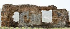 Ancient Wall Ruin In Moldavia Stock Images