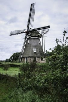 Windmill In Drenthe Stock Photos