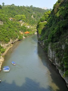 Free Beautiful Tributary Of Yangtze River Stock Images - 30757824