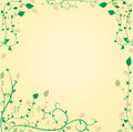 Free Decorative Floral Background With Leavesat The Cor Royalty Free Stock Images - 30760429