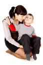 Free A Small Child Kissed My Mother Stock Images - 30761234