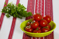 Free Tomatoes In A Green Bowl And Parsley Royalty Free Stock Photo - 30767835