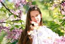 Free Beautiful Spring Girl Royalty Free Stock Photography - 30760787