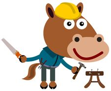 Free Construction Horse Royalty Free Stock Photography - 30761307