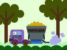 Free Fertilizer Spreading Royalty Free Stock Photo - 30761325