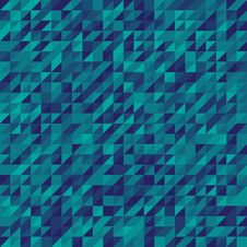 Blue Abstract Triangles Mosaic Background Stock Image