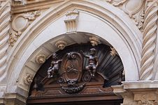 Antique Ancient Architectural Details Of Europe Royalty Free Stock Photography