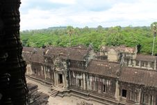 Free View Of The Jungle From Atop Angkor Wat, Cambodia Royalty Free Stock Image - 30765296