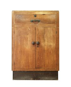 Free Vintage Wooden Cabinet Royalty Free Stock Images - 30765889