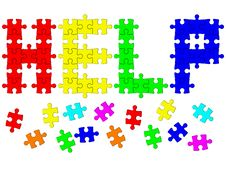 Free Signal Help From Puzzle Royalty Free Stock Photo - 30766405