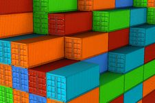 Free Shipping Containers Royalty Free Stock Photos - 30766418