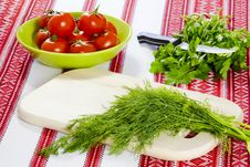 Free Dill And Parsley And Tomatoes Stock Photos - 30766713