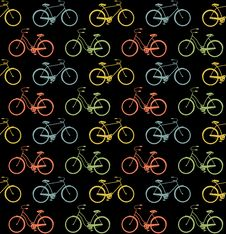 Bicycles Seamless Royalty Free Stock Image