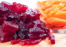 Free Cutting Of Boiled Beets Royalty Free Stock Photo - 30768445