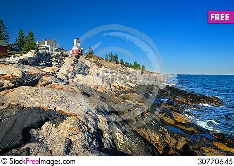 Free Pemaquid Lighthouse, Maine Royalty Free Stock Photo - 30770645