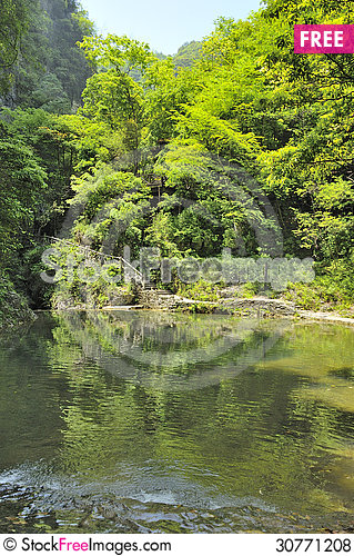 Free Scenic Area Near Xiaofeng River Royalty Free Stock Photos - 30771208