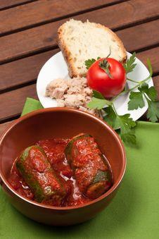 Free Zucchini Stuffed With Tuna Royalty Free Stock Photography - 30771427