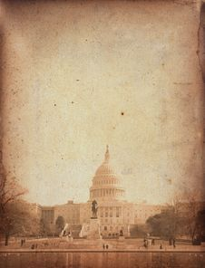 Free Vintage Capitol Building Royalty Free Stock Photography - 30773057