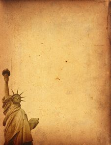 Free Vintage Statue Of Liberty Stock Photography - 30773062