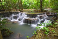 Free Erawan Waterfall III Royalty Free Stock Photography - 30773907