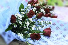 Free Bouquet Of Roses Stock Images - 30775434