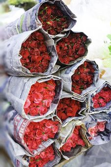 Free Bouquet Of Roses Royalty Free Stock Image - 30775576
