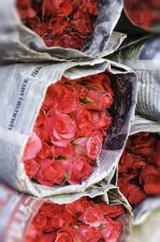 Free Bouquet Of Roses Royalty Free Stock Photos - 30775738