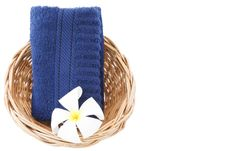 Free Towel In Basket Isolated White Background. Stock Photo - 30782650