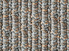 Free Coins Pattern Stock Images - 30784784