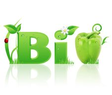 Word Bio Ecological Design Stock Image