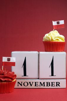 Free Calendar Date For Poland National Independence Day, November 11 - Vertical With Copy Space. Stock Photo - 30788620