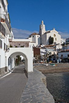 Saint Mary Church Cadaques Spain Royalty Free Stock Images
