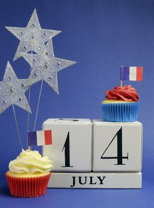 Free France National Holiday Calendar, 14 July, Fourteenth Of July, Bastille Day - Vertical. Royalty Free Stock Image - 30788726