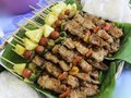 Free Barbecue On Banana Leaf Royalty Free Stock Photo - 30799045