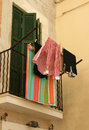 Free Italian Balcony With Hanging Clothes Stock Image - 30799621