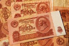 Free Soviet Money Royalty Free Stock Photo - 30794245