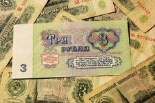Free Soviet Money Royalty Free Stock Photo - 30794375