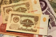 Free Soviet Money Royalty Free Stock Photography - 30794427