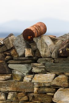 Free Pot On Stone Wall Royalty Free Stock Photos - 30794898