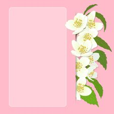 Free Vector Greeting Card With Cherry Blossom. Stock Photography - 30795062
