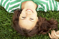 Free Girl Lies On Grass Royalty Free Stock Photography - 3080527