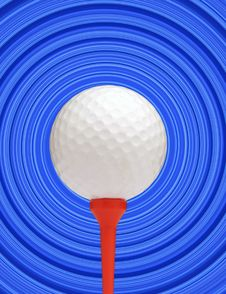 Free Golf Ball On Blue Royalty Free Stock Photography - 3080037