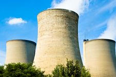 Free Power Station Cooling Towers Stock Photography - 3080072