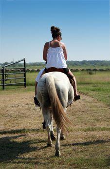 Free Girl Rides Horse Stock Photos - 3080123