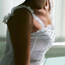 Beautiful White Dress Royalty Free Stock Images